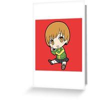 Chie Satonaka Chibi Greeting Card