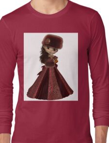 Toon Winter Princess in Red Long Sleeve T-Shirt