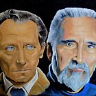 Peter Cushing and Christopher Lee by Ian Morton