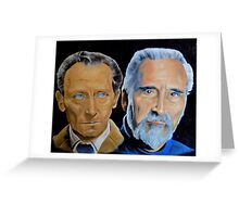 Peter Cushing and Christopher Lee Greeting Card