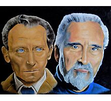 Peter Cushing and Christopher Lee Photographic Print