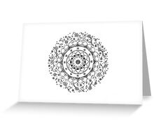MANDALA No.1 Floral Greeting Card