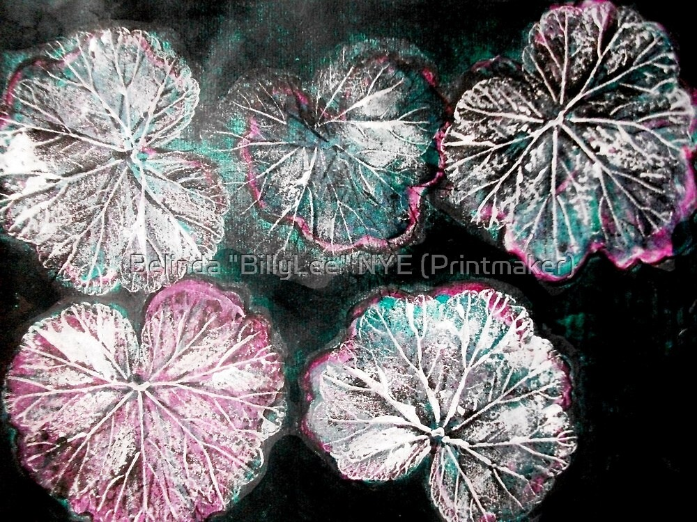"Novembers Garden 8 - Monoprint by Belinda ""BillyLee"" NYE (Printmaker)"