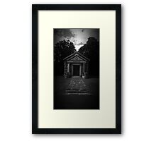 Mausoleum...peaceful and serene Framed Print