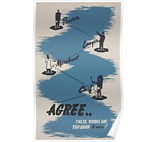 WPA United States Government Work Project Administration Poster 0490 Doctor Lawyer Merchant Chief Agree These Books are Too Good To Miss Poster