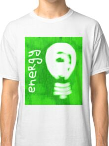 Energy, light bulb icon, eco concept  Classic T-Shirt