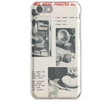 United States Department of Agriculture Poster 0292 Cooked Meat Poulry and Fish Fight Food Waste iPhone Case/Skin