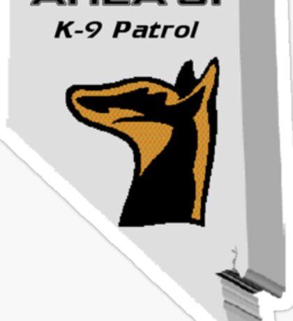 Area 51 K9 Patrol Sticker