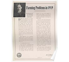 United States Department of Agriculture Poster 0021 Farming Problems 1919 Poster