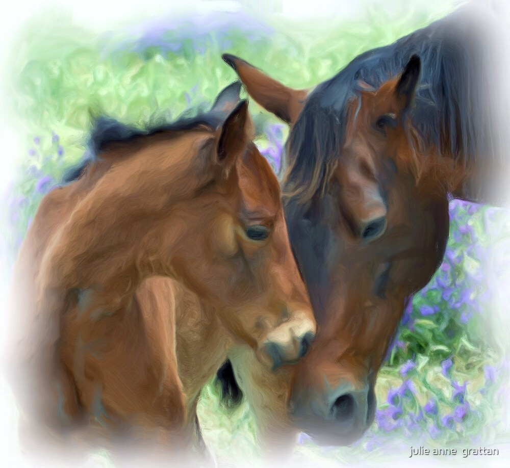 Mother and Daughter in Corel Painter by julie anne  grattan