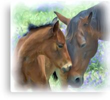 Mother and Daughter in Corel Painter Metal Print