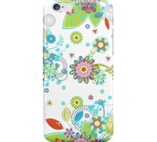 Colorful Retro Floral Design  iPhone Case/Skin