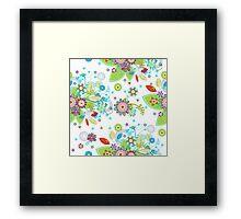 Colorful Retro Floral Design  Framed Print