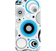 Blue Gray And White Abstract Circles iPhone Case/Skin