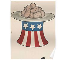 United States Department of Agriculture Poster 0129 Hat of Potatoes Poster