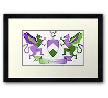 Genderqueer Crest Framed Print