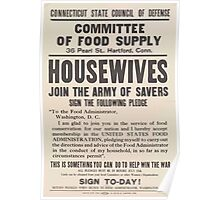United States Department of Agriculture Poster 0199 Committee of Food Supply Housewives Join Army Savers Poster