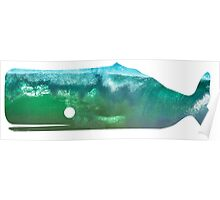 Sperm Whale wave Poster