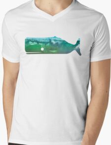 Sperm Whale wave Mens V-Neck T-Shirt