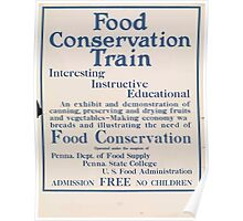 United States Department of Agriculture Poster 0267 Food Conservation Train Poster
