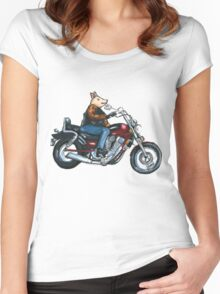 Pa's Hog Women's Fitted Scoop T-Shirt
