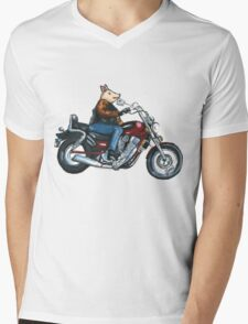 Pa's Hog Mens V-Neck T-Shirt