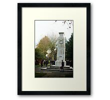Old soldier Framed Print
