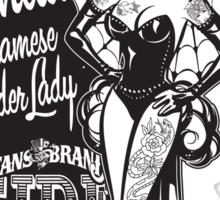 Side Show Freaks - Juanita Siamese Spider Lady Sticker