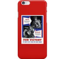 Help Him For Victory -- WWII iPhone Case/Skin