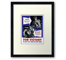 Help Him For Victory -- WWII Framed Print