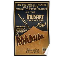 WPA United States Government Work Project Administration Poster 0841 The Southwest Theatre Unit Paradise Lynn Riggs Poster