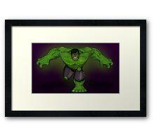Hulk Never Backs Down Framed Print