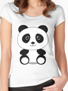 The Panda Women's Fitted Scoop T-Shirt