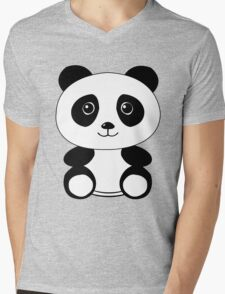The Panda Mens V-Neck T-Shirt