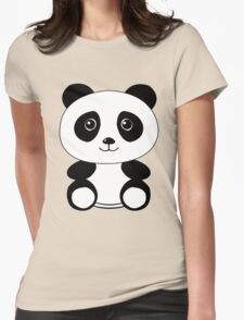 The Panda Womens Fitted T-Shirt