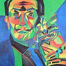 Salvador Dali with Ocelot and Cane by taiche