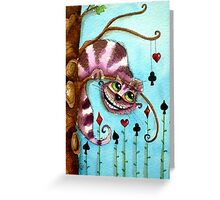 The Cheshire Cat - Lazy days Greeting Card