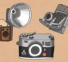 Vintage Cameras by Samantha Mabley