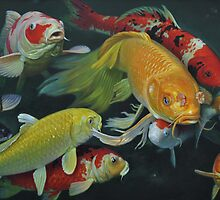 Oil painting:FISH by Ze Zhao