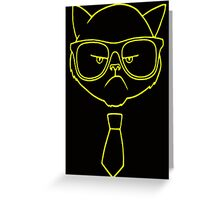 GRUMPY HIPSTER CAT Greeting Card