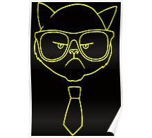 GRUMPY HIPSTER CAT Poster