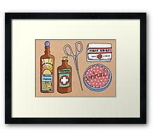 Medical Items Framed Print