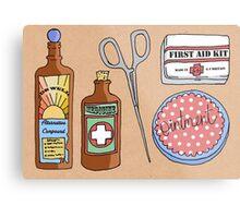 Medical Items Metal Print