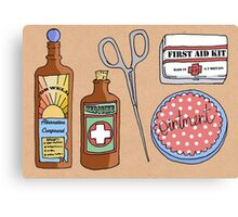 Medical Items Canvas Print