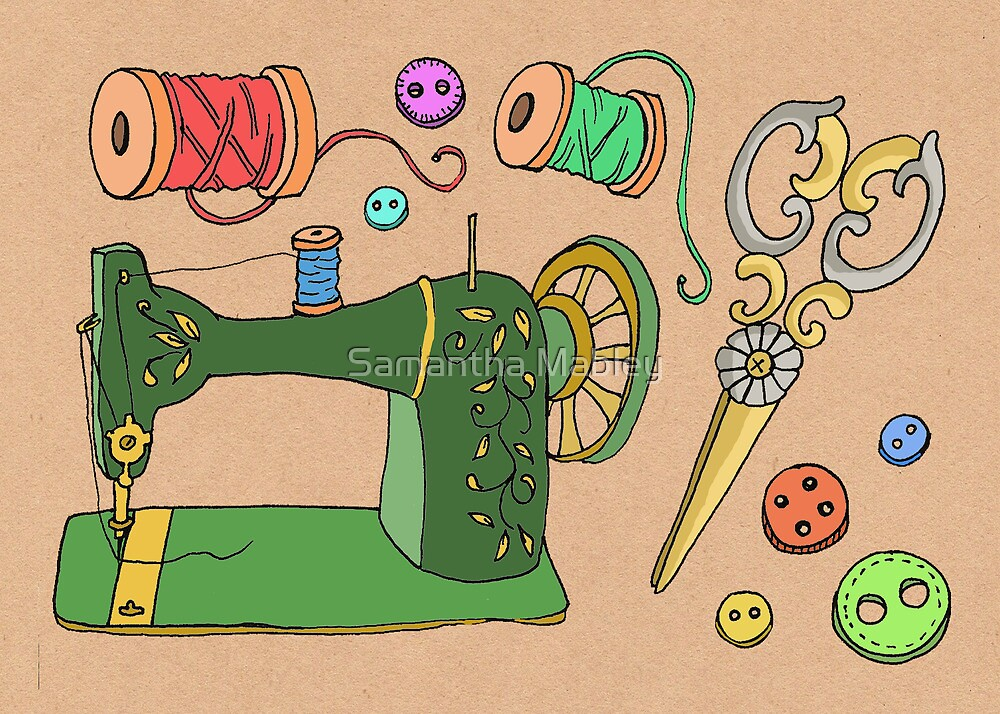 Sewing Time by Samantha Mabley