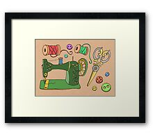 Sewing Time Framed Print
