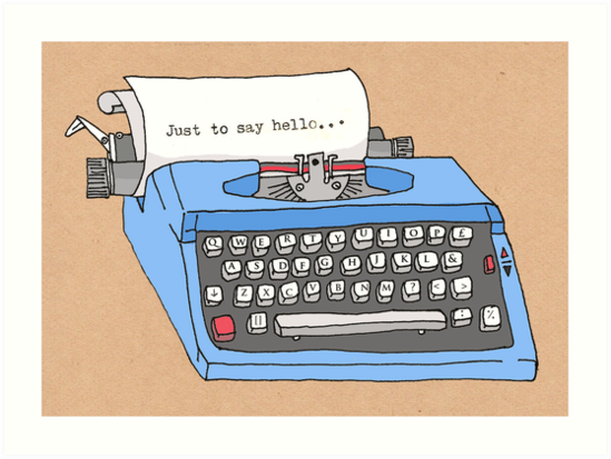 Hello Typewriter! by Samantha Mabley