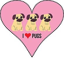 HEART PUGS Photographic Print