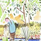 The Council Worker Clearing the Pond by John Douglas
