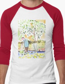 The Council Worker Clearing the Pond Men's Baseball ¾ T-Shirt